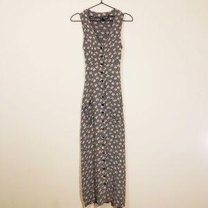 Betsey Johnson Floral Sleeveless Maxi Dress